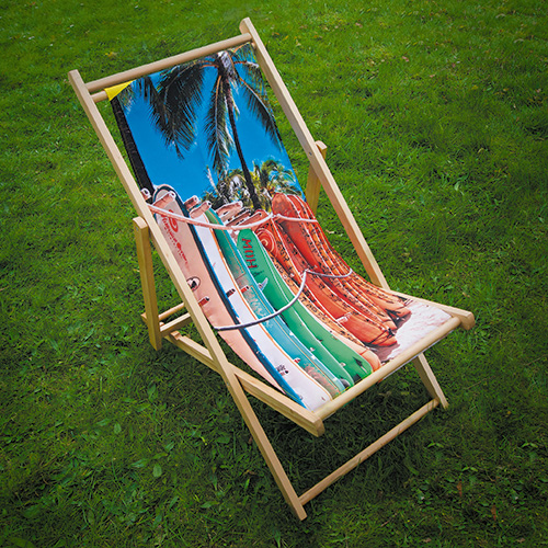 branded deck chair ink on fabric fabric exhibition stands. Black Bedroom Furniture Sets. Home Design Ideas